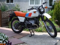 Jim Isherwoods 1981 R80G/S after passing its test